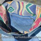 Patchwork-Jeanstasche