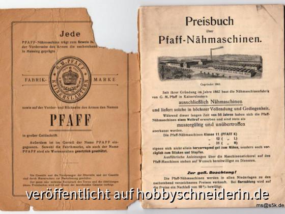 Preisbuch50 Jahre Pfaff