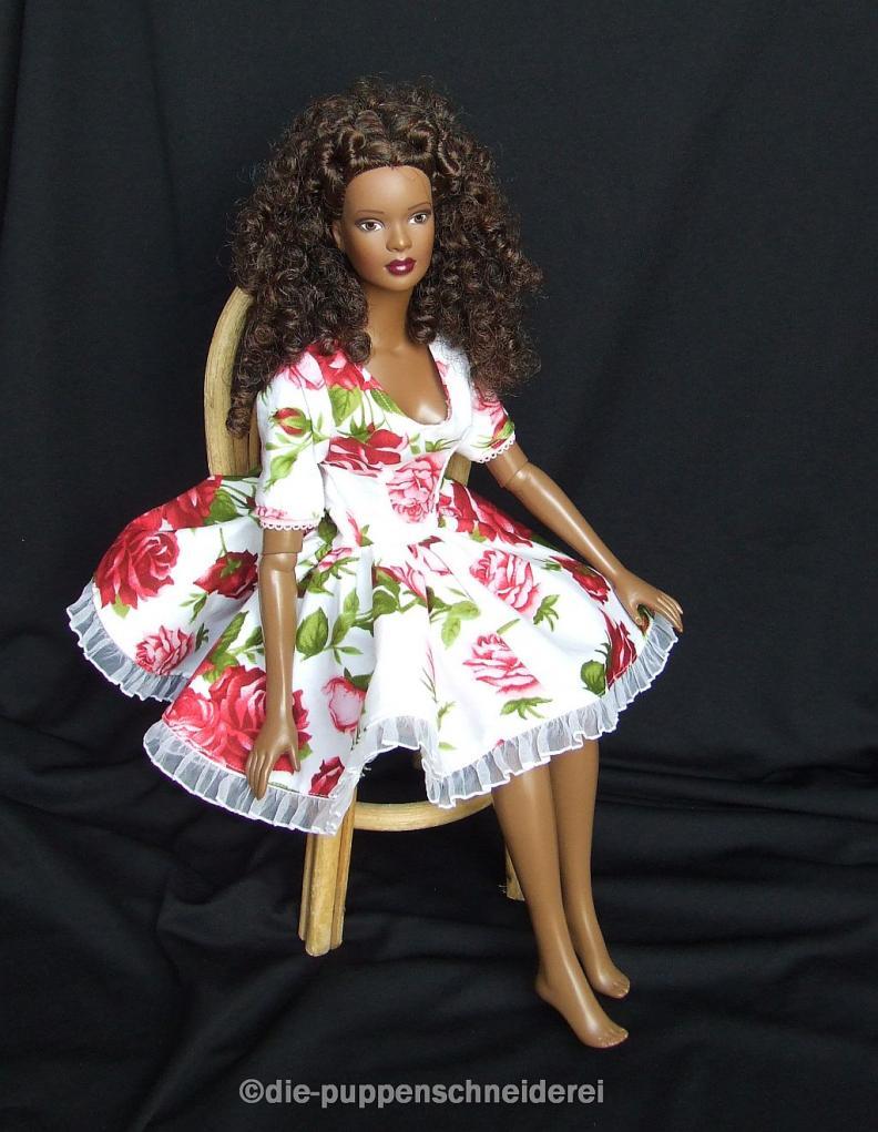 Rosen Sommerkleid 3