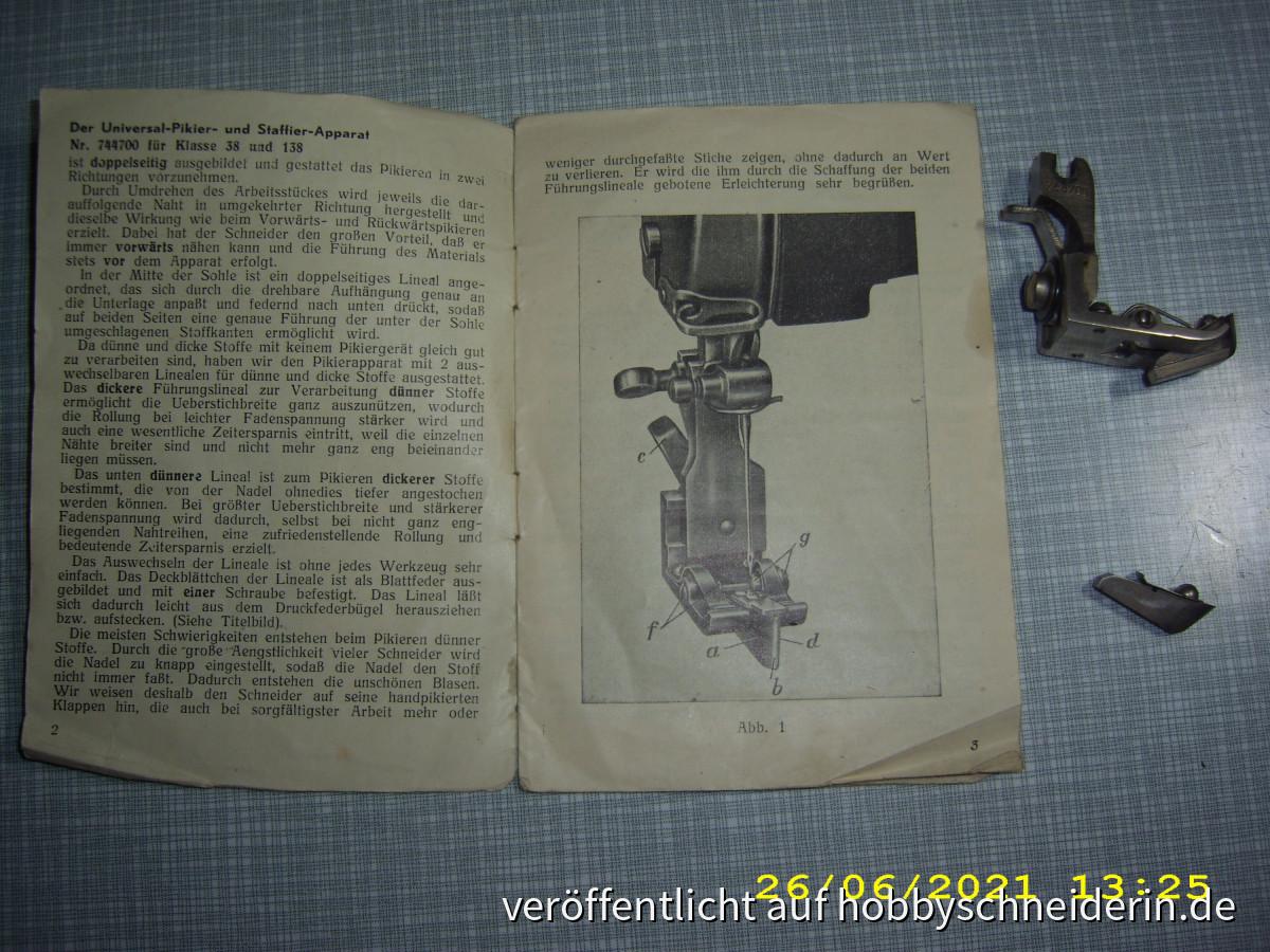 Pfaff Universal Rollpikierapparat Nr  744700