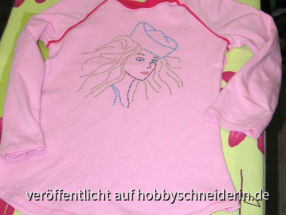Kindershirt mit Pseudo-Paspel