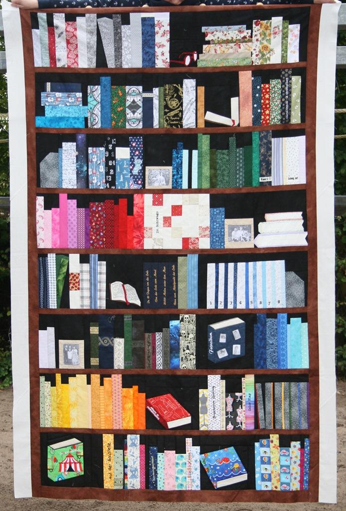 Bücherregalquilt Komplettansicht