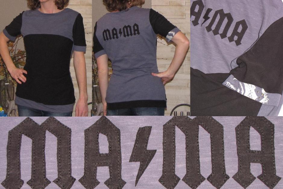 Mama-Rockershirt aus 2 Männer-T-Shirts :-)