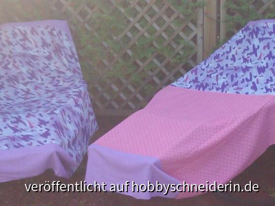 Schutzdecken für die Liegestühle