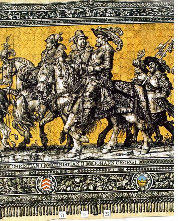 Fürstenzug in Dresden, Vorlage