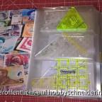 S2 Schablonen im Geldscheinordner 1, genutzt für kleine bis mittlere Patchwork- und andere kleinere Schablonen
