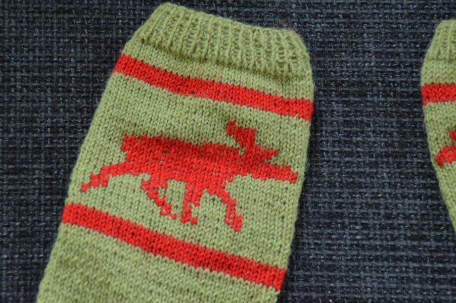 Socken für den Elchfan