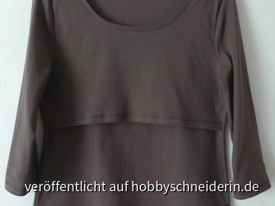 Einfaches T-Shirt mit 2 Vorderteilen
