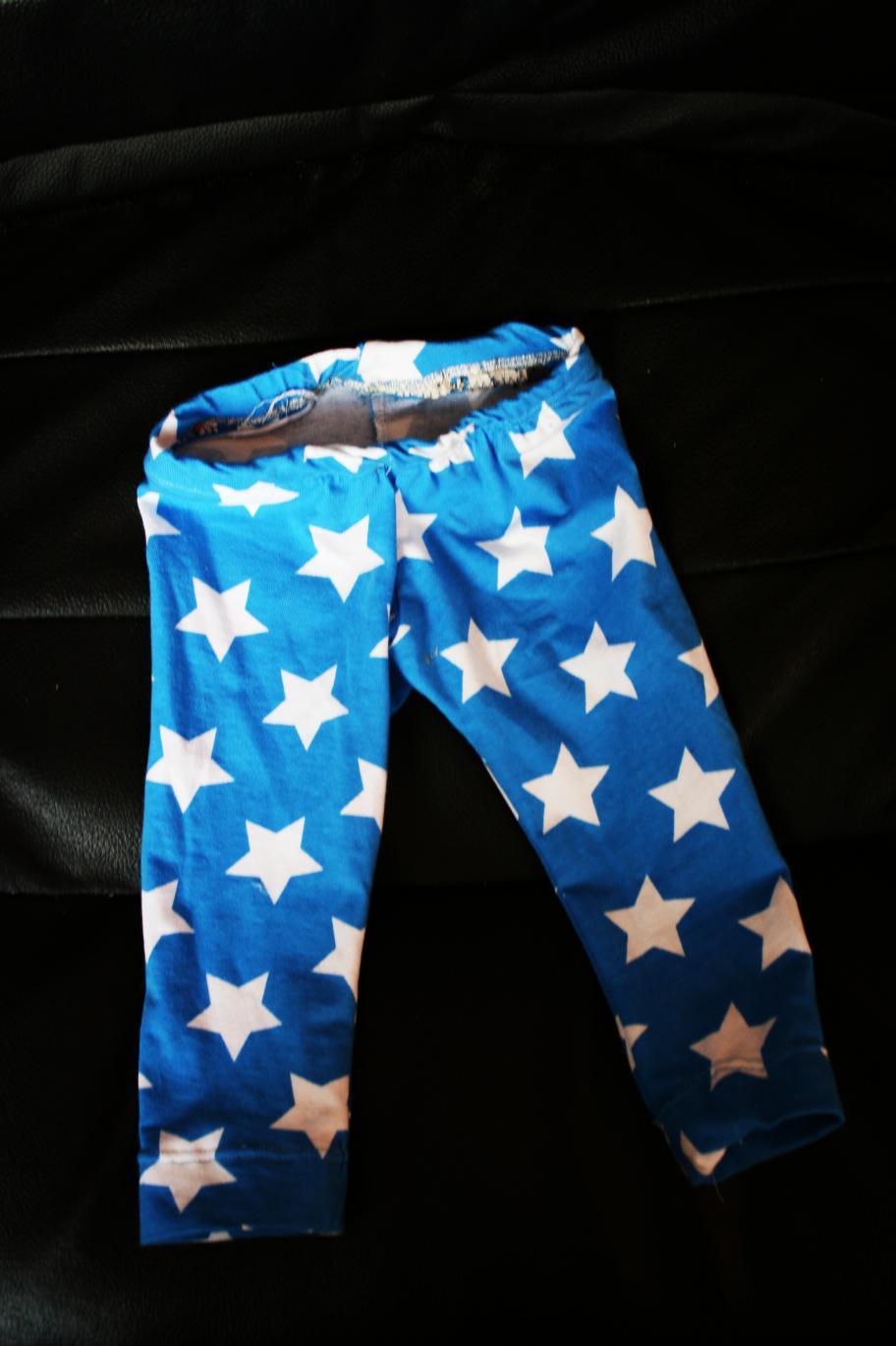 blaue sterne leggings gr. 80