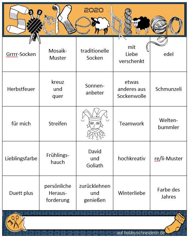 Sockenbingo2020