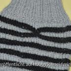 Socken mit Fake-Zopf
