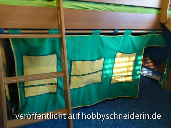 Der neue Vorhang für das Hochbett meines Sohnes