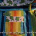 Bademantel - Tasche mit Fröschen