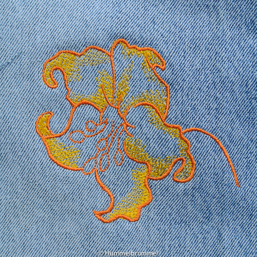 Cat-Line-Beutelchen Rückseite mit Blüte