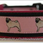 """Halsband """"Fräulein Mops"""""""