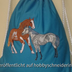 """Rucksackbeutel für meine """"Pferdeenkelmädchen"""""""