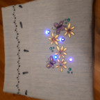 fertige Tasche mit LED-Blick-Schaltung in der Fronttasche