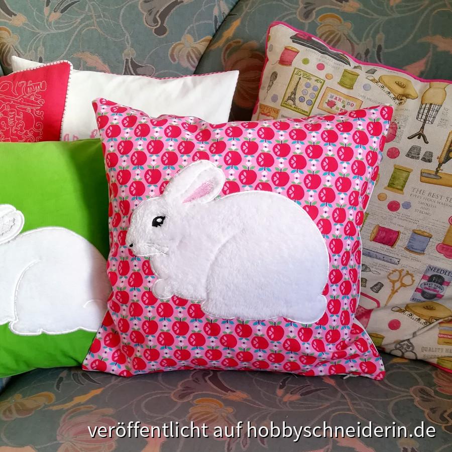 Ein kuscheliges Kaninchen - Kissen