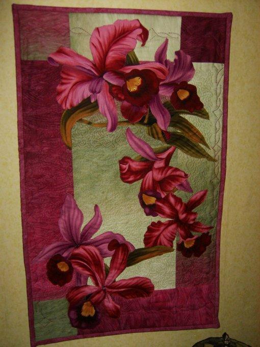 Orchideenquilt