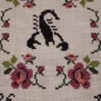 Kreuzstichbild Maschinengestickt Skorpion