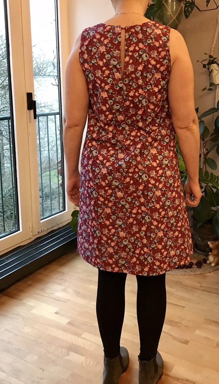 E1 - A-Linien-Kleid hinten - Ceri