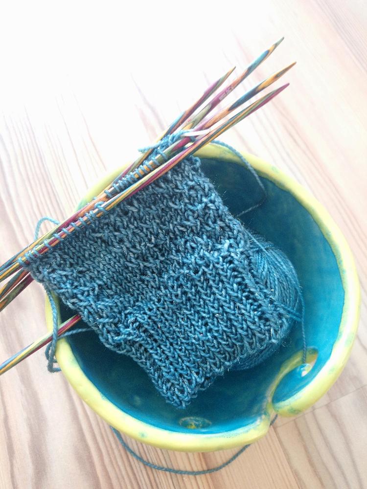 Stulpen, gestrickt aus Sockenwolle