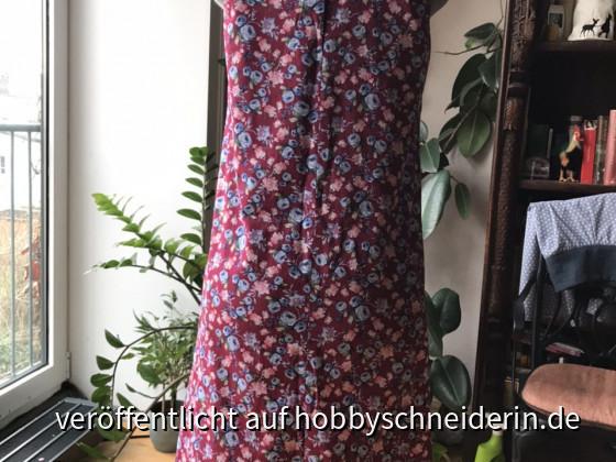 E1 - A-Linien Kleid hinten