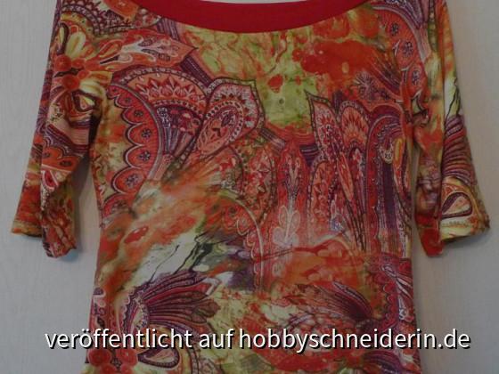 und noch ein einfaches Raglanshirt aus bunt bedrucktem Viscosejersey für MICH *g*