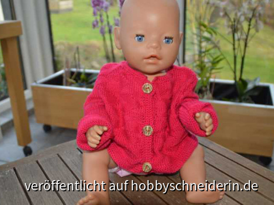 Puppen-Strickjäckchen