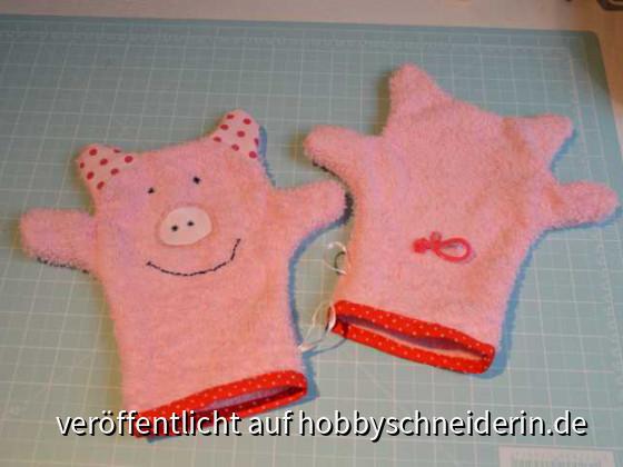 Schweinchen-Waschlappen