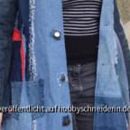 Mantel Johanna aus Jeans (Probemantel) geöffnet.