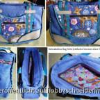 Schnabelina Bag Mini Nr. 2, in der einfachen Version ohne Zip-It-Erweiterung im Boden, genäht als Geschenk.