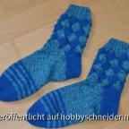 Meine ersten Entrelac Socken