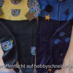 Ottobres Cloud-Boy in verschiedenen Varianten, das Träger-Oberteil wurde von einem Trägerkleidchen abgekupfert