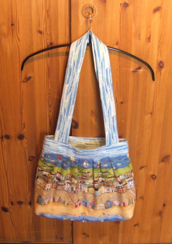 Tasche mit Strandstoff