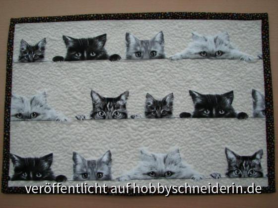 """Tischset """"curiuous cats"""""""