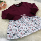Girly Sweater Gr. 92 - Rosen und weinrot