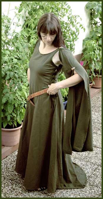 Druidin in grün
