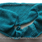 Schal mit verkürzten Reihen