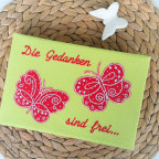 Ideenbuch mit Schmetterlingen