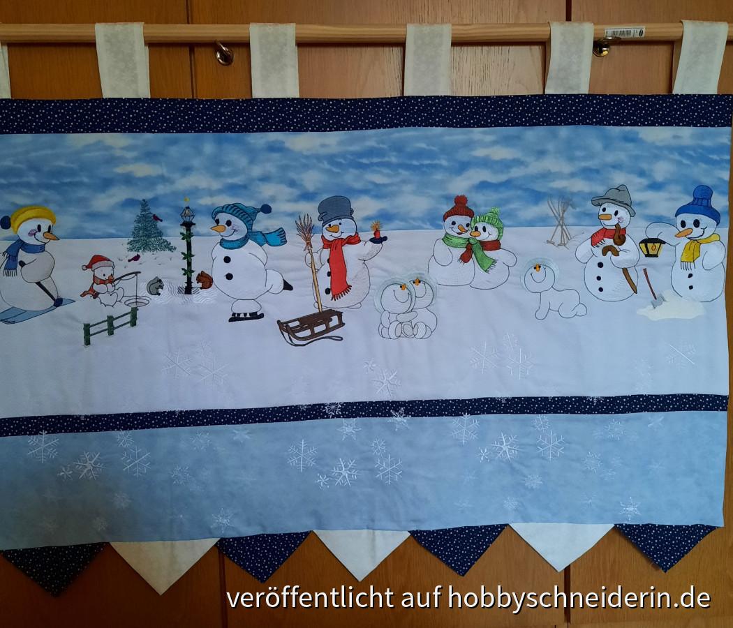 Wandbehang für den Winter