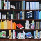 Detailbild Bücherregalquilt untere Hälfte
