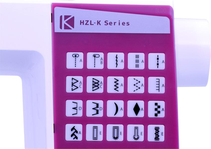 Juki HZL-K65 Direktwahltasten Stichmuster
