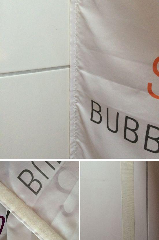 Vorhang Klettband Duschvorhang