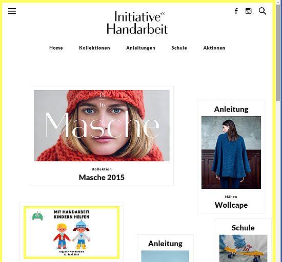 Initiative Handarbeit - neue Webseite
