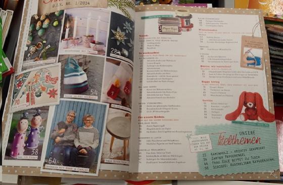 DIY Kreativ Magazin Inhaltsverzeichnis