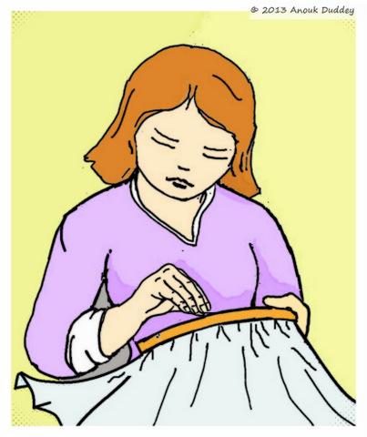 Sticken mit Nähmaschine Freihandsticken Anouk