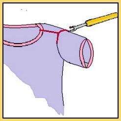 Halsauschnitt auftrennen Anouk