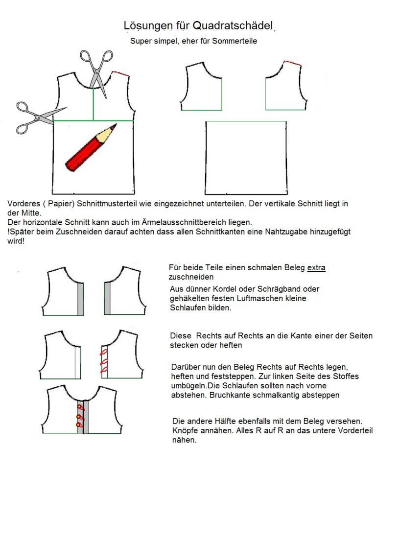 Halsauschnitt einfache Variante Anouk