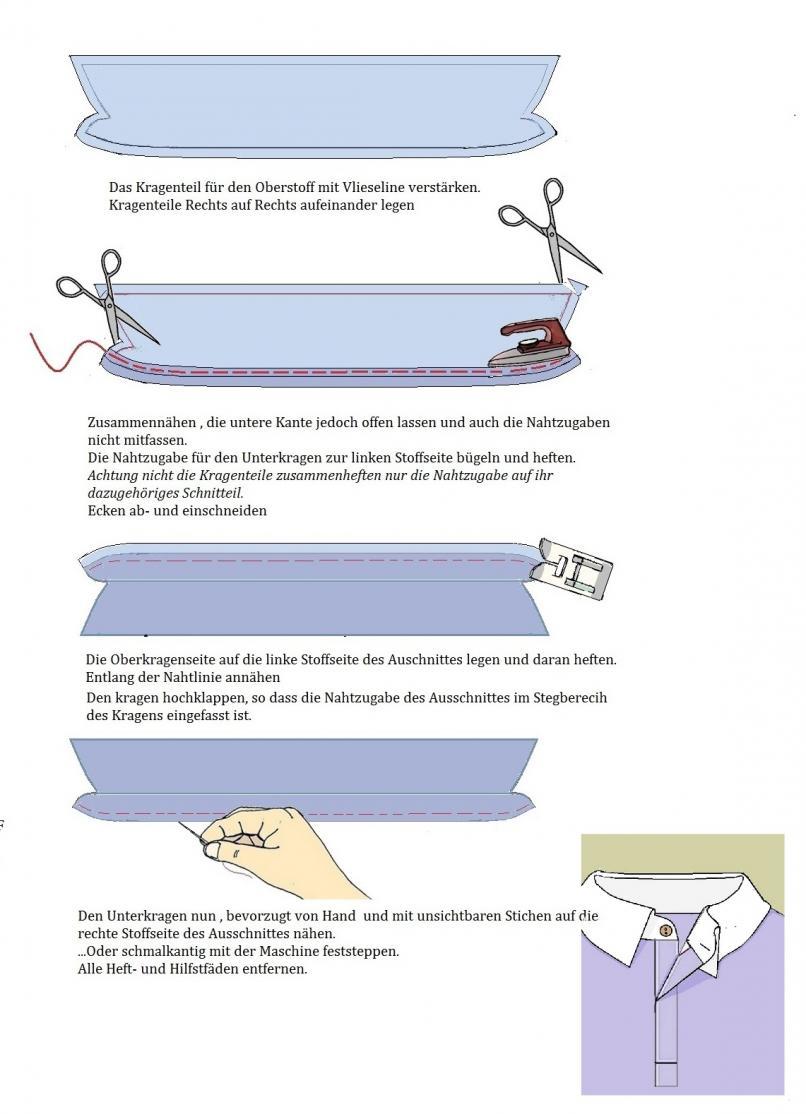 Poloshirtkragen Anleitung Kragen Anouk